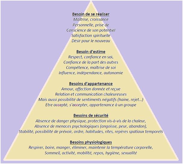pyramide des besoins de l'enfant