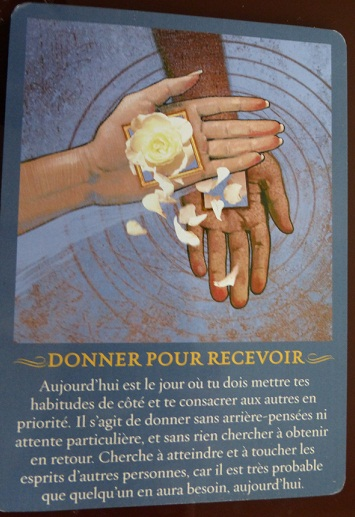 DONNER POUR RECEVOIR (yes)